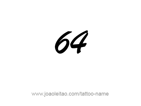 Tattoo Design Number Sixty Four