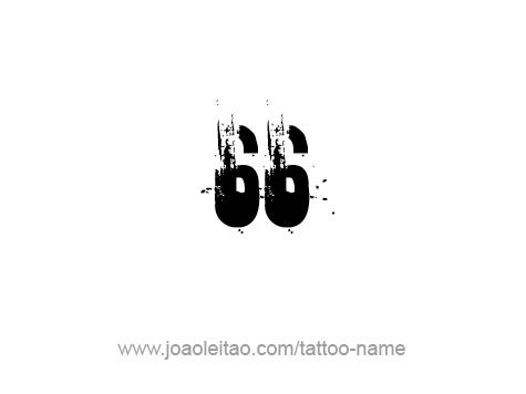 Tattoo Design Number Sixty Six