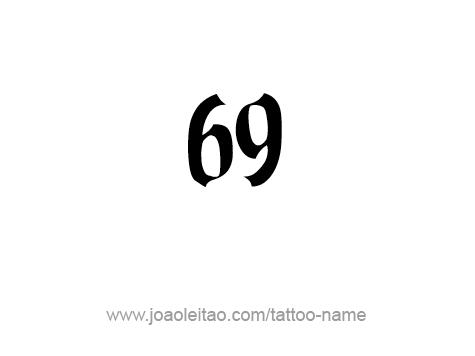 Tattoo Design Number Sixty Nine