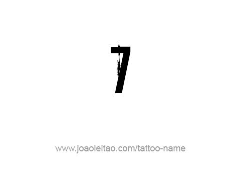 Tattoo Design Number Seven