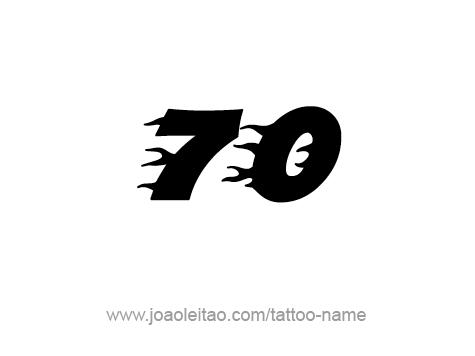 Tattoo Design Number Seventy