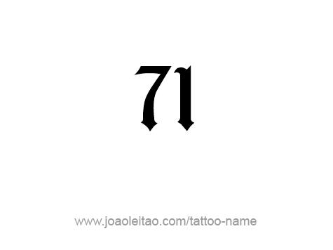 Tattoo Design Number Seventy One