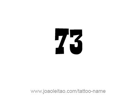 Tattoo Design Number Seventy Three