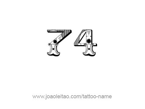 Tattoo Design Number Seventy Four
