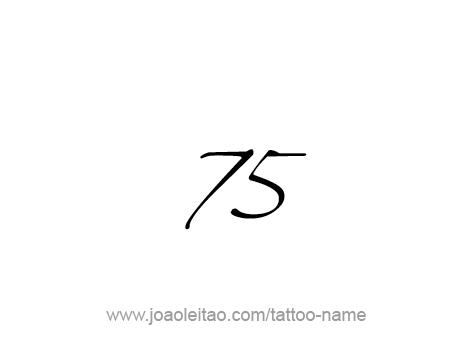 Tattoo Design Number Seventy Five
