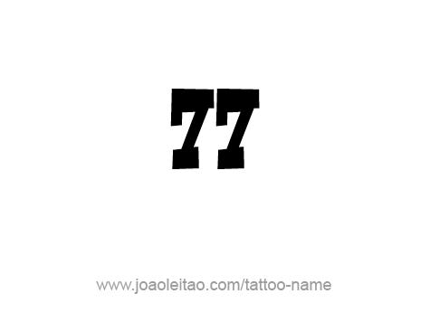 Tattoo Design Number Seventy Seven