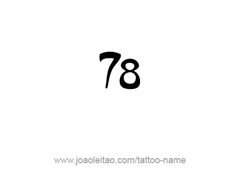Tattoo Design Number Seventy Eight