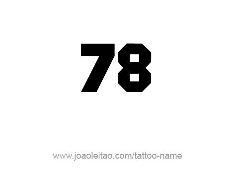 Tattoo Design Number Seventy Eight