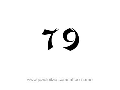 Tattoo Design Number Seventy Nine