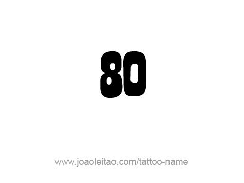 Tattoo Design Number Eighty