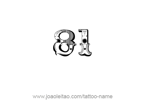 Tattoo Design Number Eighty One