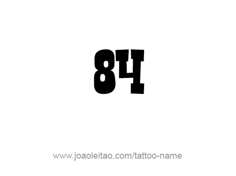 Number - 84 - Eighty Four T-Shirt | Spreadshirt