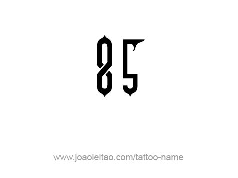 Tattoo Design Number Eighty Five