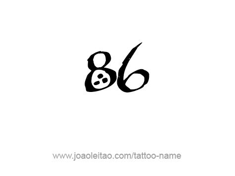 Tattoo Design Number Eighty Six