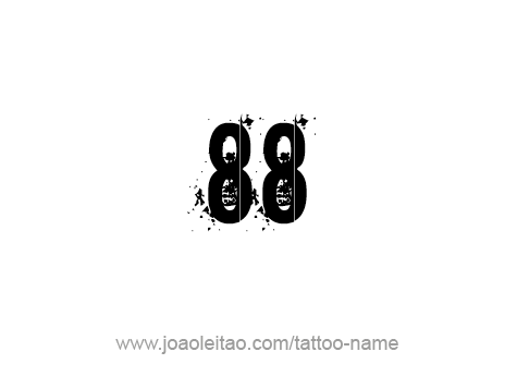 Tattoo Design Number Eighty Eight