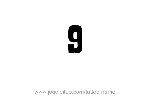 Tattoo Design Number Nine