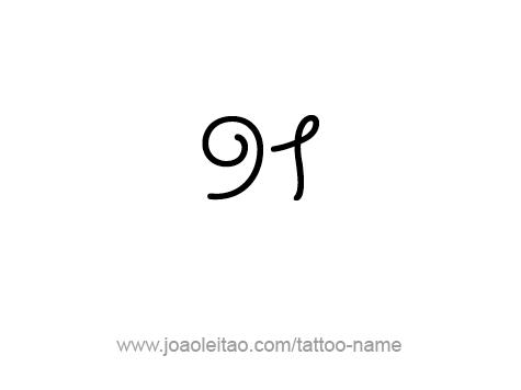 Tattoo Design Number Ninety One