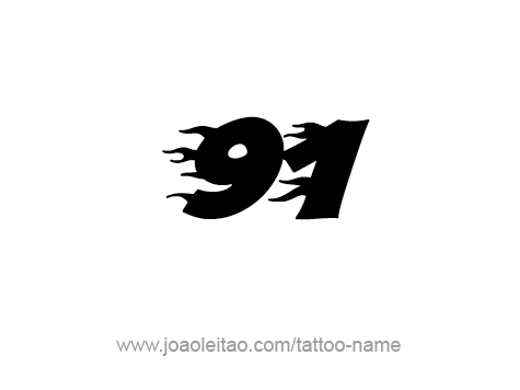 Tattoo Design Number Ninety One