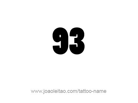 Tattoo Design Number Ninety Three