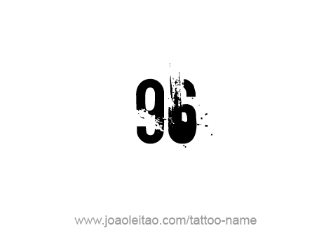 Tattoo Design Number Ninety Six