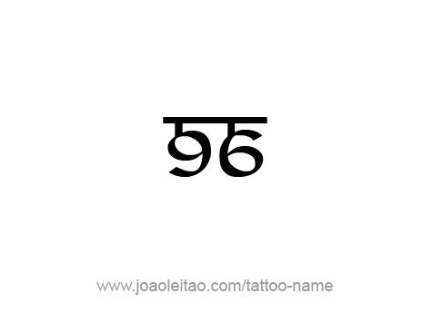 Tattoo Design Number Ninety Six