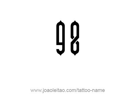 Tattoo Design Number Ninety Eight