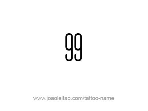 Tattoo Design Number Ninety Nine