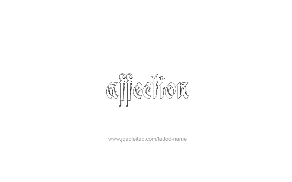 Tattoo Design Feeling Name Affection