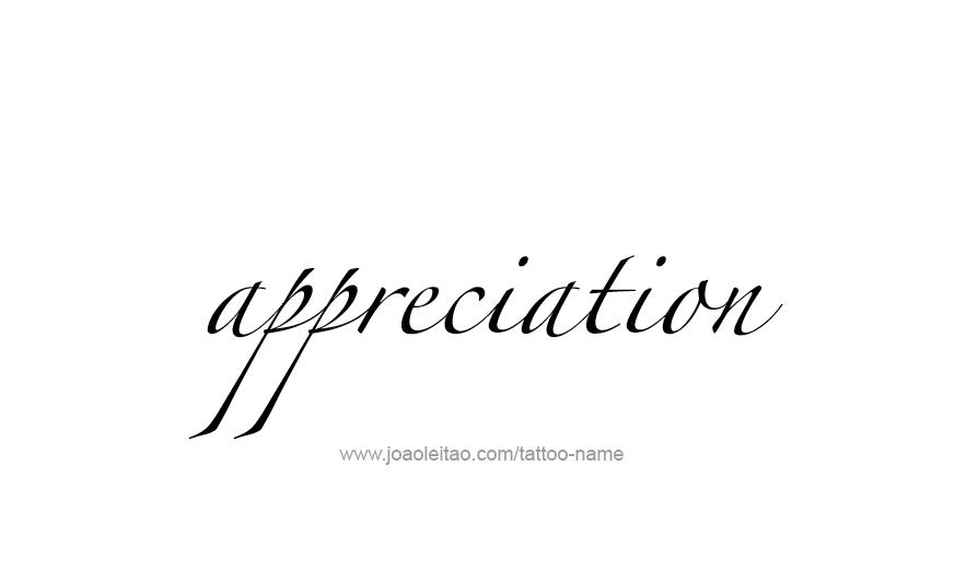 Tattoo Design Feeling Name Appreciation