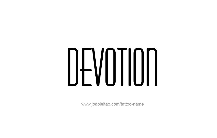 Tattoo Design Feeling Name Devotion