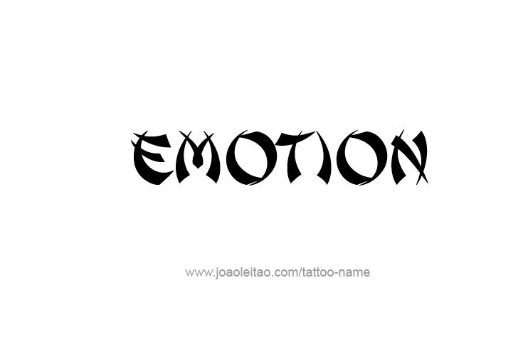 Tattoo Design Feeling Name Emotion
