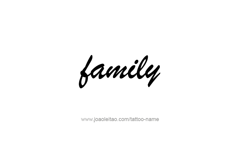 Tattoo Design Love Word Name Family