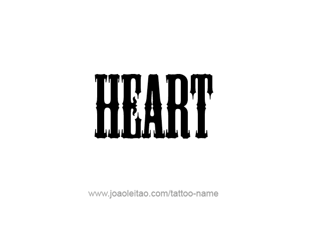 Tattoo Design Love Word Name Heart