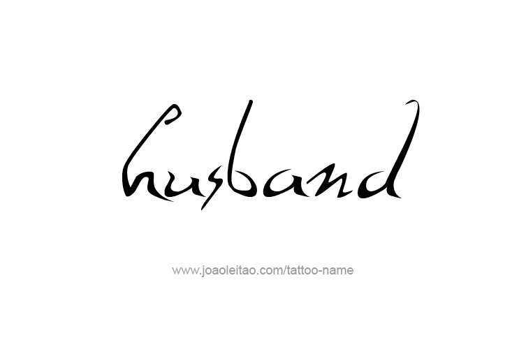 798ebd945 Husband Family Name Tattoo Designs - Tattoos with Names