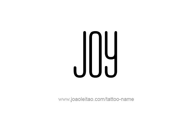 Tattoo Design Name Joy