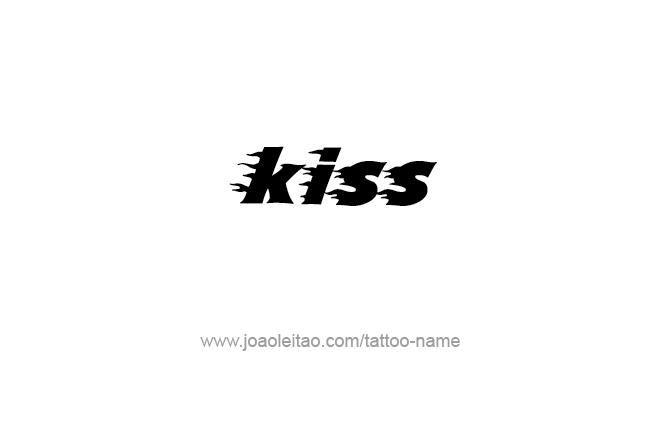 Tattoo Design Name Kiss
