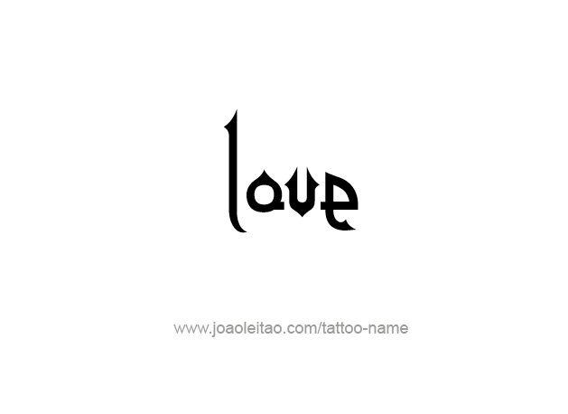 Love name tattoo designs tattoos with names for Love in design