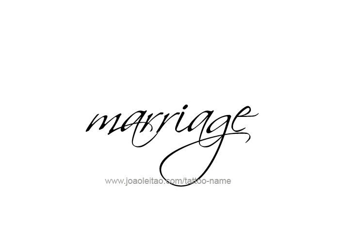 Tattoo Design Love Word Name Marriage