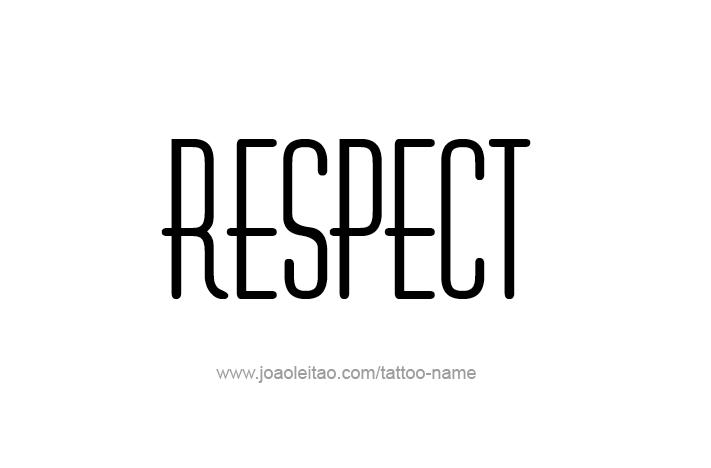 Tattoo Design Love Word Name Respect