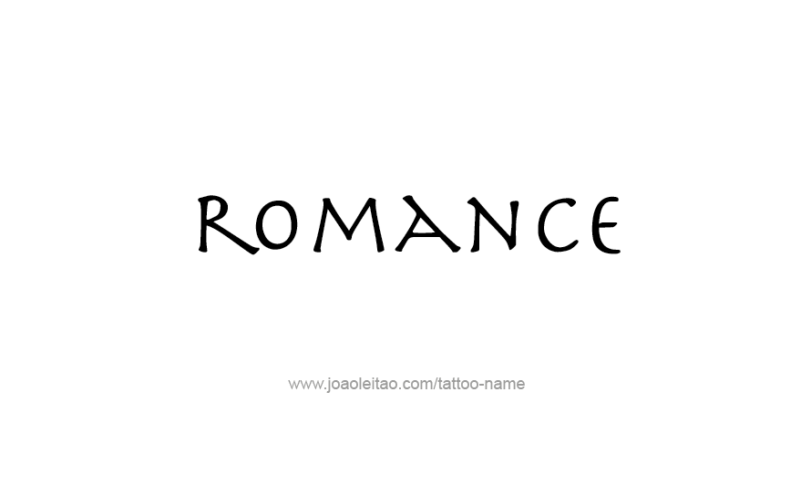 Tattoo Design Love Word Name Romance
