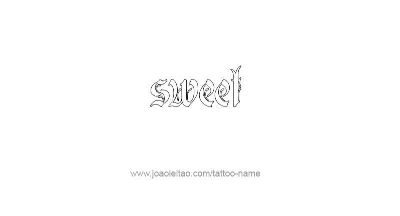 Tattoo Design Love Word Name Sweet