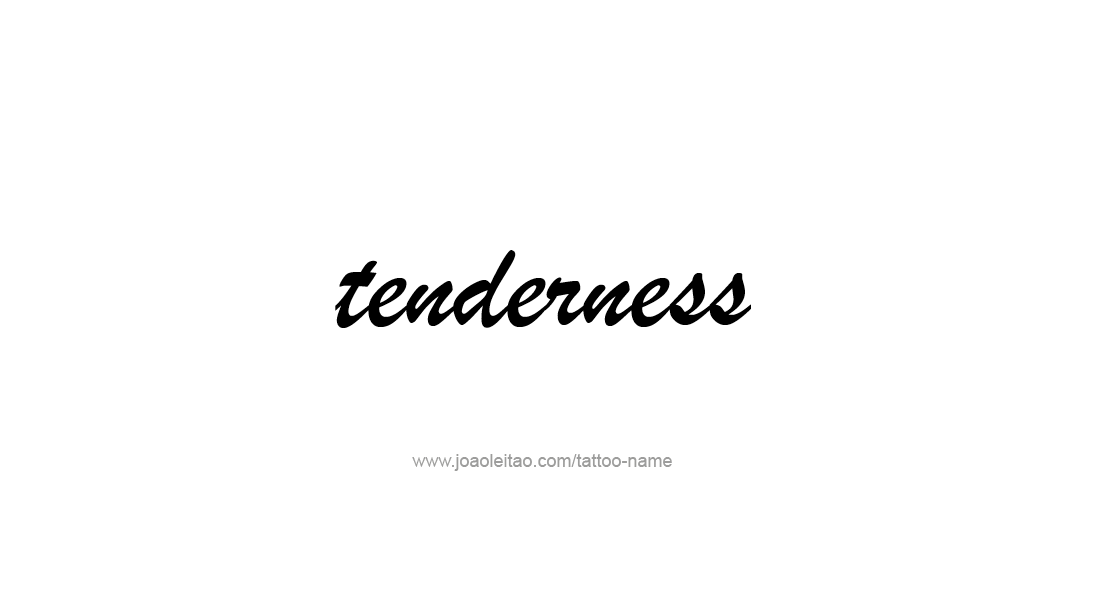 Tattoo Design Feeling Name Tenderness