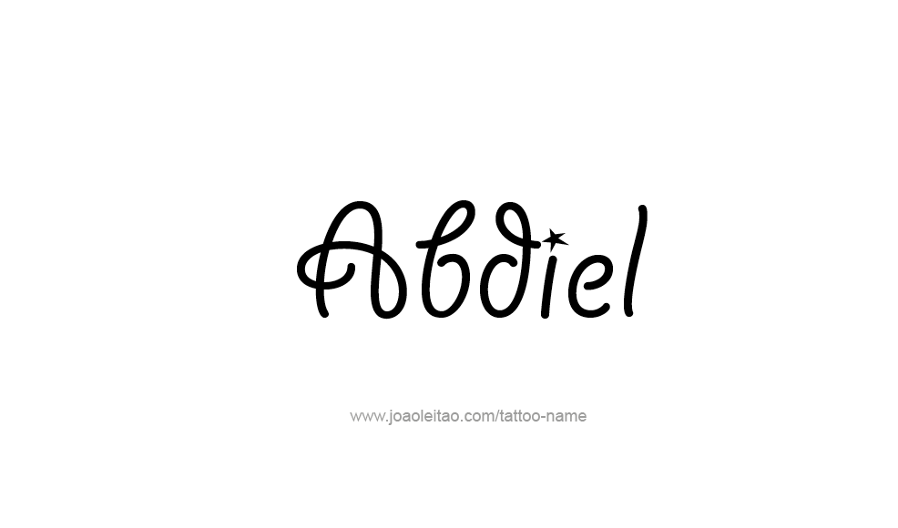 Tattoo Design  Name Abdiel