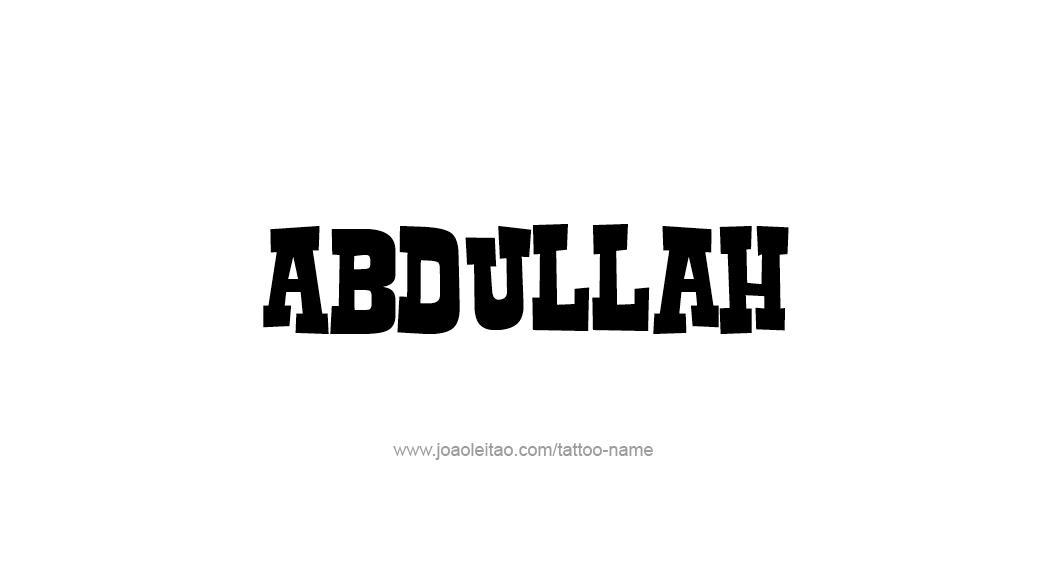 Tattoo Design  Name Abdullah
