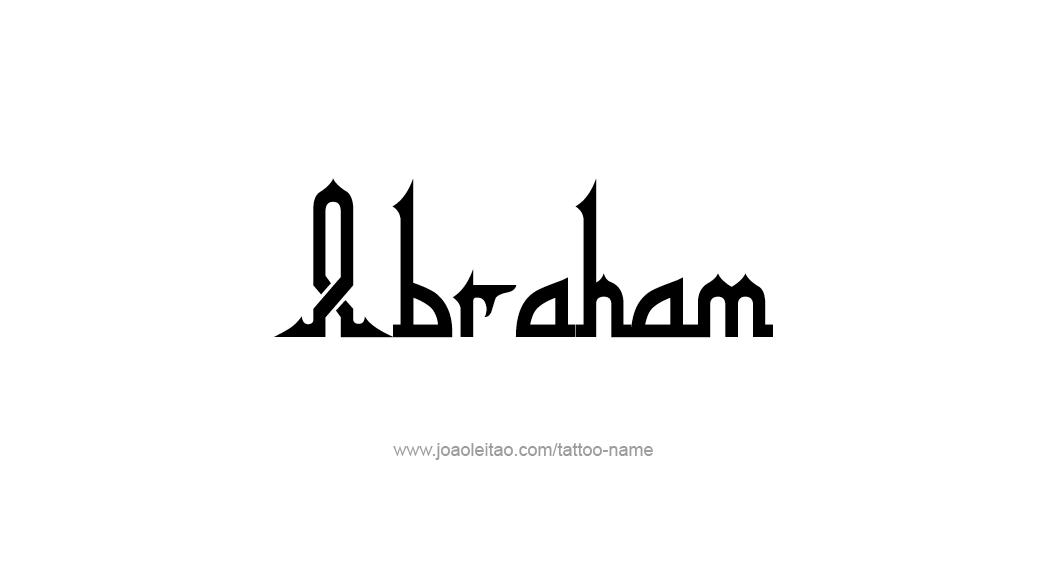Tattoo Design  Name Abraham