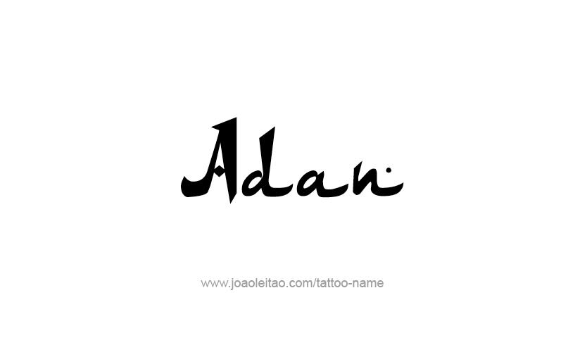 Tattoo Design  Name Adan