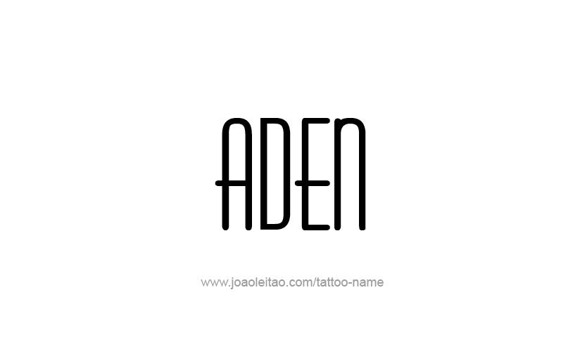 Tattoo Design  Name Aden