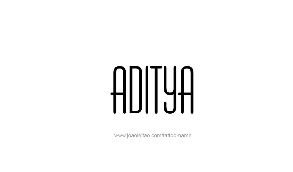 Tattoo Design  Name Aditya