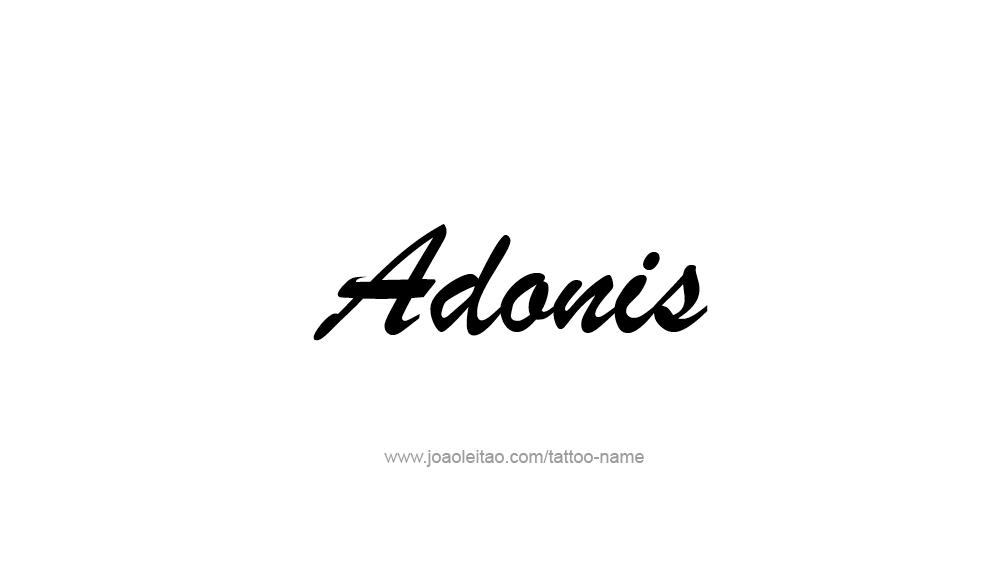 Tattoo Design  Name Adonis