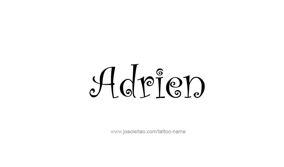 Tattoo Design  Name Adrien